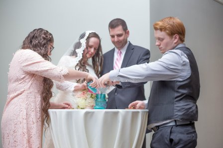 Sand ceremony - A blending of the family