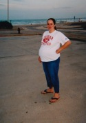 08/2003 few days before giving birth