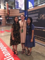 Makayla with two of her best friends last year at North American Youth Congress