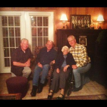 2012 - With her boys.