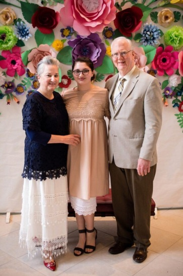 My Parents were the good grandparents and took an Easter pic with my daughter